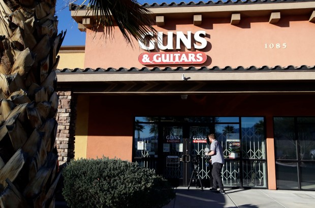 Stephen Paddock, who killed 59 people and wounded more than 500 others in Las Vegas on Sunday night, purchased firearms from this store in Mesquite, Nev. The store's general manager said Paddock passed all required background checks.