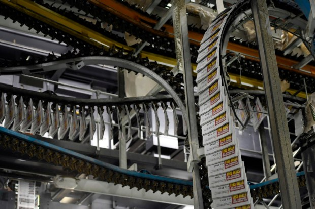 The Denver Post's presses run at the newspaper's printing plant on Washington Street on Sept. 13. The Post, which was founded in 1892, turned 125 this year.