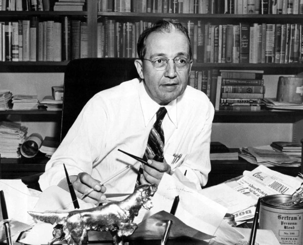 Former Denver Post publisher and editor Palmer Hoyt launched the paper's editorial page on May 19, 1946.