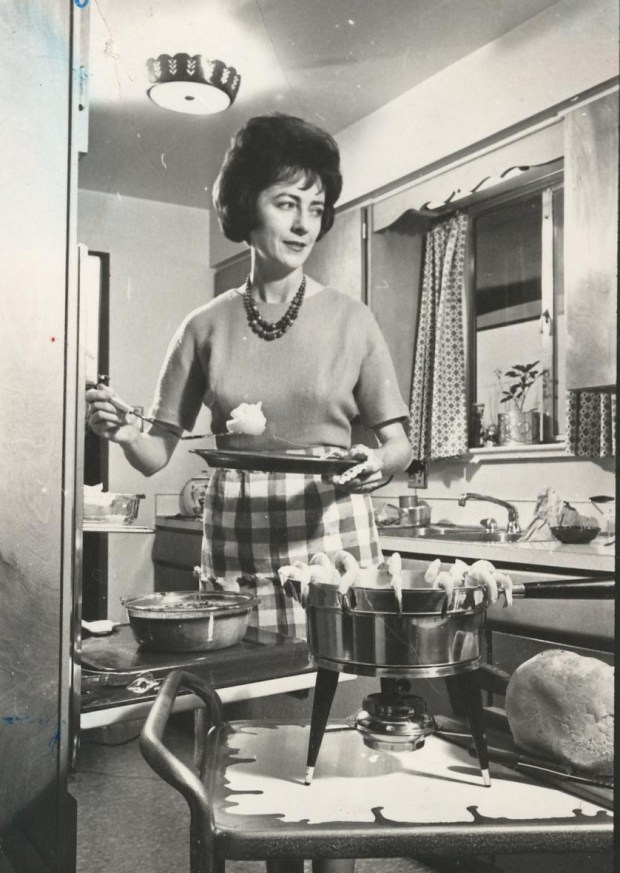 Helen Dollaghan was The Denver Post food editor from 1958 to 1993. Here she tests recipes in her Arvada kitchen.