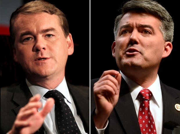 U.S. Sens. Michael Bennet, left, and Cory Gardner are working together on an immigration plan.
