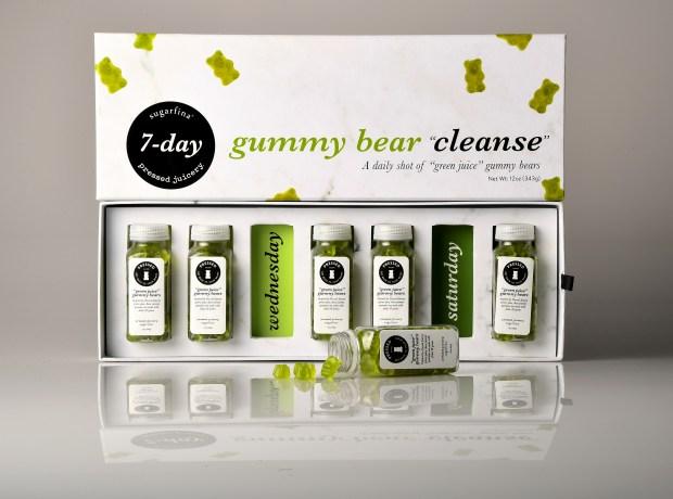 Sugarfina's 7-day gummy bear cleanse kit.