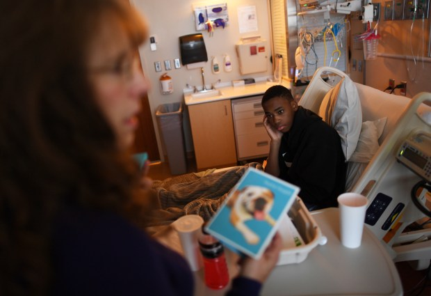 Isaac Martin, 17, a star in the taekwondo community, was recently diagnosed with a rare form of leukemia and he is being treated at Children's Hospital on October 10, 2017 in Aurora.