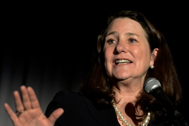 DENVER, CO. - APRIL 30: Corgresswoman Diana DeGette delivers remarks during the ÒThe Civil SoirŽe.Ó at the McNichols Building in Civic Center, Denver CO, April 30, 2013. One Colorado put on the party on the eve of civil unions becoming law in Colorado. Later in the evening many couples plan to cross the street to the Webb Building and begin applying for their civil union licenses at midnight on May 01, 2013 when the Civil Union Act takes effect. Colorado became the latest state to recognize the legal rights of same-sex couples Ñ through marriage or civil unions Ñ when Gov. John Hickenlooper signed state Senate Bill 11 into law March 21. (Photo By Craig F. Walker/The Denver Post)