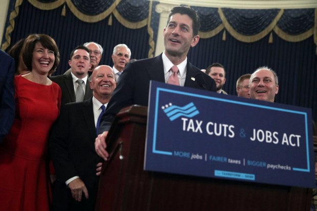 House Speaker Paul Ryan speaks during a news conference on Republicans' tax reform legislation on Nov. 2 at the Capitol.