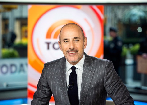 "This Nov. 8 photo released by NBC shows Matt Lauer on the set of the ""Today"" show in New York. NBC News fired the longtime host this week for ""inappropriate sexual behavior."""