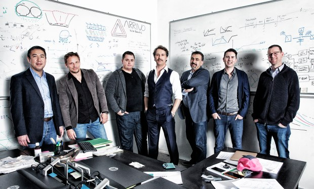 Arrivo's founders. With his signature mustache, ...