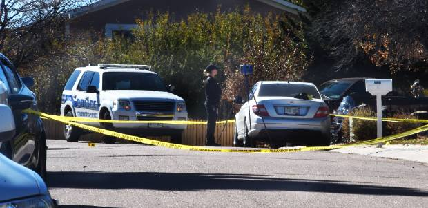 CSPD detectives were on the scene of a shooting in the 3800 block of Soft Breeze Way, where authorities say three people were shot a party.