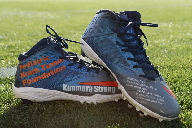 Broncos players unveil custom shoes for My Cause My Cleats