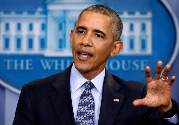 President Barack Obama speaks during his final presidential news conference at the White House on Jan. 18.
