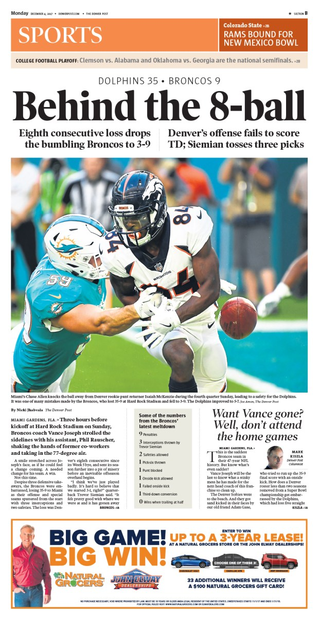 The Denver Post Sports cover