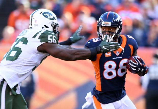 Denver Broncos wide receiver Demaryius Thomas ...