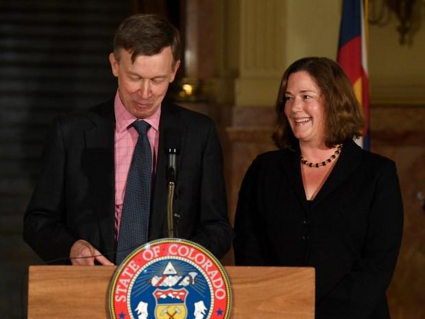 Colorado Gov. John Hickenlooper announces Melissa ...