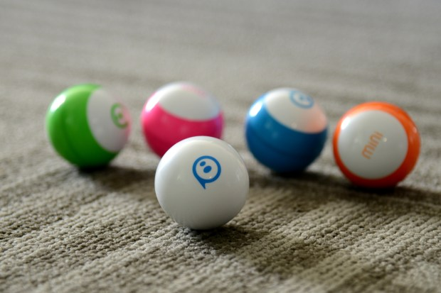 Sphero's new mini, a toy robots at the Sphero campus in Boulder, Colorado on Dec. 1, 2017. The mini can be programmed by the user to complete actions.