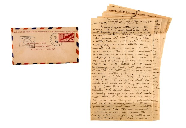 Shown are some of the hundreds of letters written during and after World War II, mostly by the members of a single family - the Eydes of Rockford, Ill.