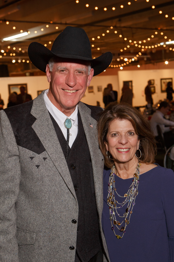 Pete and Marilyn Coors, recipients of the Mary Belle Grant Award at The Coors Western Art Exhibit & Sale Red Carpet Reception at the National Western Complex Expo Hall in Denver.