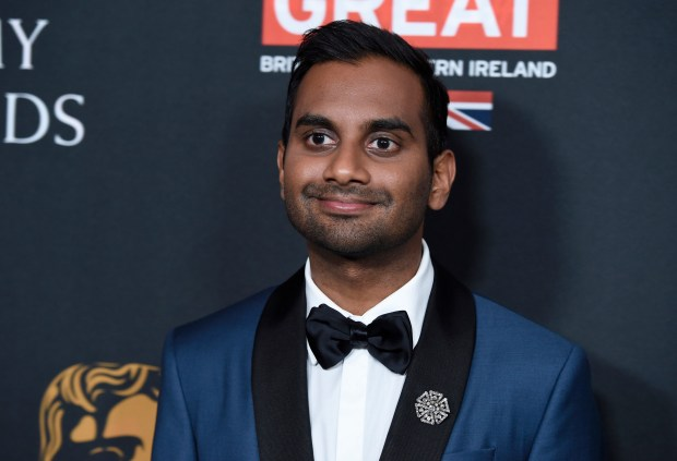 Comedian Aziz Ansari arrives at the BAFTA Los Angeles Britannia Awards in Beverly Hills, Calif., on Oct. 27, 2017.