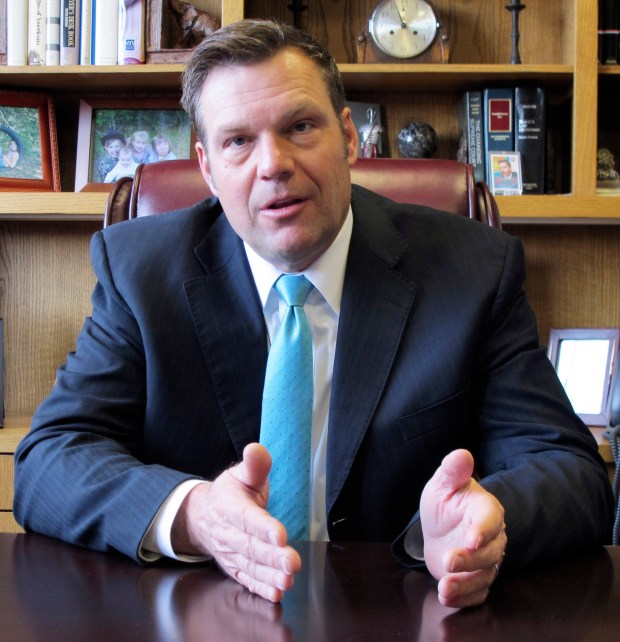 Kris Kobach is Kansas' secretary of state and a Republican candidate for governor.