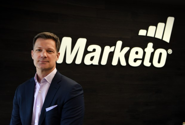 Marketo CEO Steve Lucas poses for ...