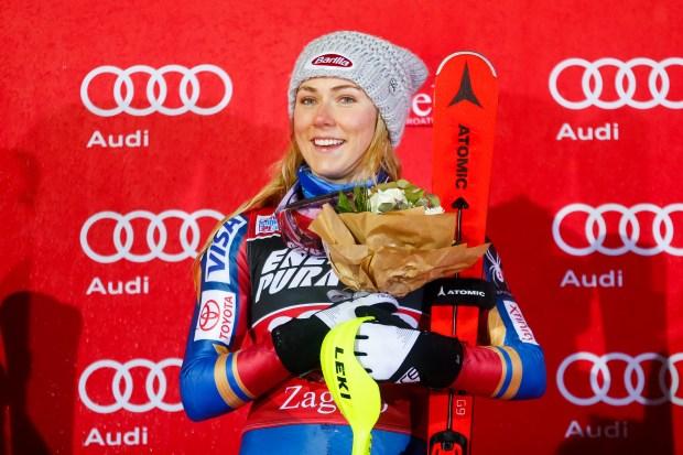 Mikaela Shiffrin of USA takes 1st ...