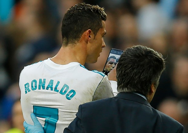 Real Madrid's Cristiano Ronaldo leaves the ...