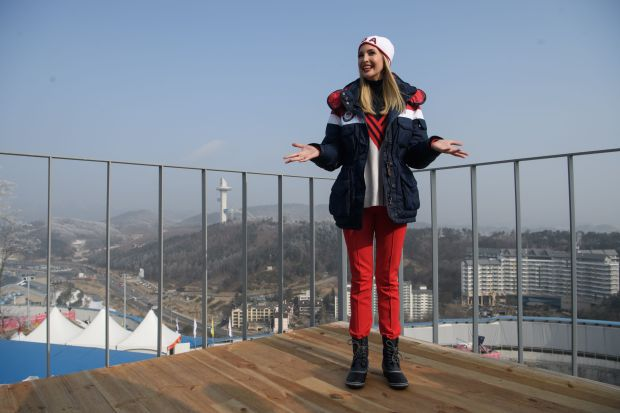 Ivanka Trump poses for a photo at the Olympic sliding center during the men's four-man bobsled event of the Winter Olympic Games in Pyeongchang, South Korea, on Sunday.
