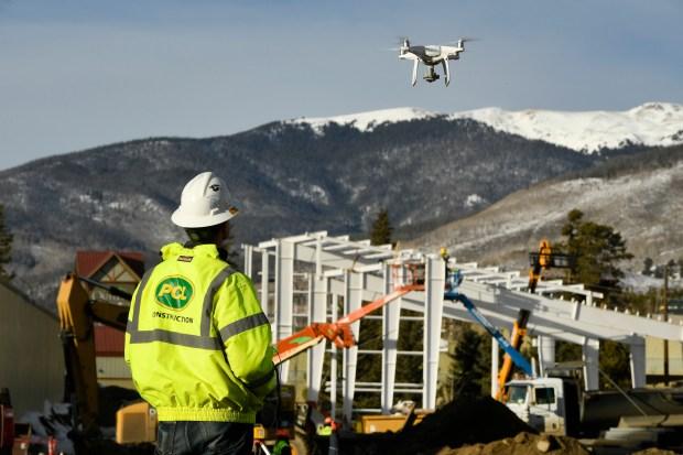 Chris Lierheimer flies his unmanned aerial ...