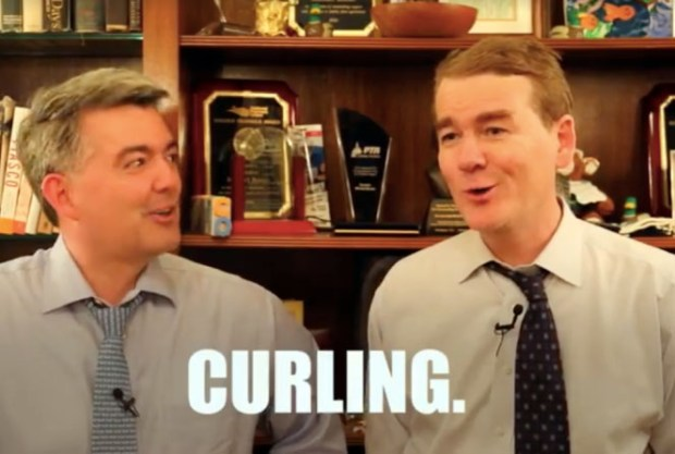 A screenshot of a video made by Colorado's U.S. Sens. Cory Gardner (left) and Michael Bennet.