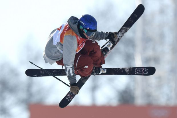 PYEONGCHANG-GUN, SOUTH KOREA - FEBRUARY 20: Torin Yater-Wallace of the United States competes during the Freestyle Skiing Men's Ski Halfpipe Qualification on day eleven of the PyeongChang 2018 Winter Olympic Games at Phoenix Snow Park on February 20, 2018 in Pyeongchang-gun, South Korea. (Photo by Matthias Hangst/Getty Images)