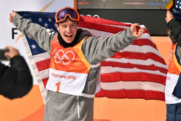 Pyeongchang, Gangwon - FEBRUARY 22 : Alex Ferreira of the United States celebrates after winning silver during the Freestyle Skiing Men's Ski Halfpipe Final on day thirteen of the PyeongChang 2018 Winter Olympic Games at Phoenix Snow Park . February 22, 2018 (Photo by Hyoung Chang/The Denver Post via Getty Images)