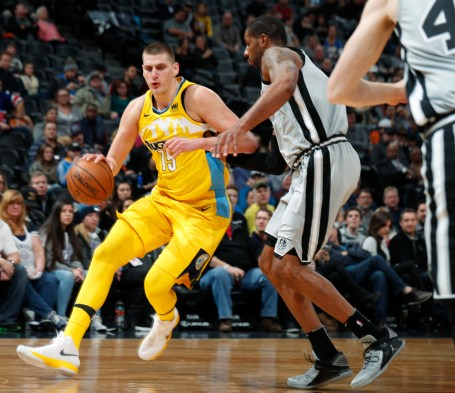 Image result for Nikola Jokic vs spurs