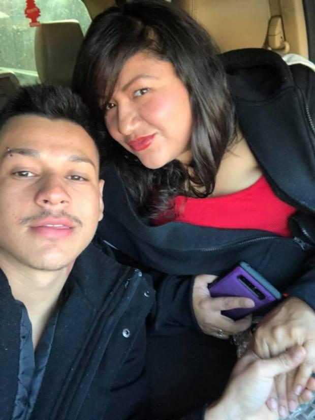 Kevin Torres, 18, and Tania Arbaiza, ...
