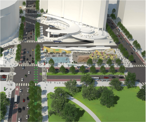 Preconstruction rendering of Civic Center Station.