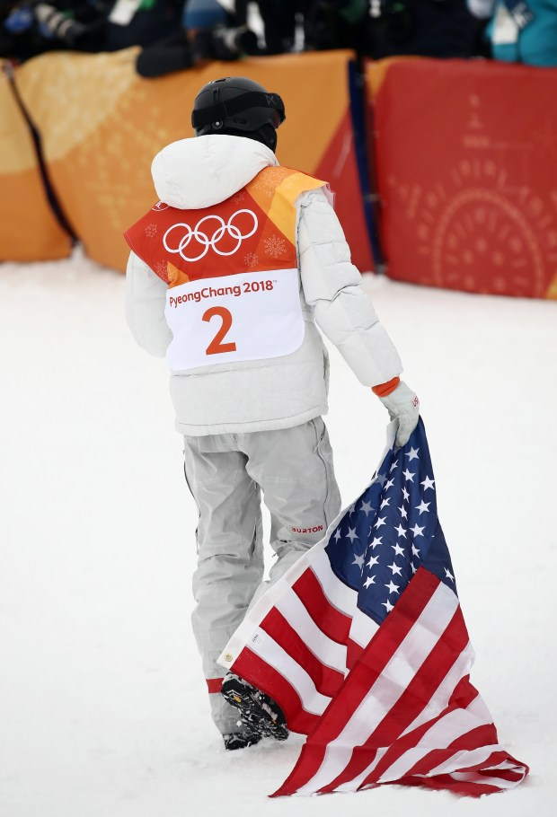 Gold medalist Shaun White of the ...
