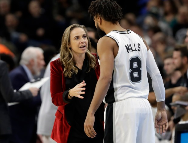San Antonio Spurs assistant coach Becky ...