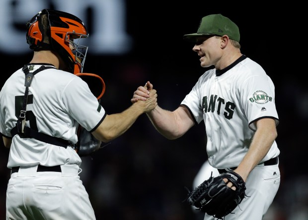 San Francisco Giants pitcher Mark Melancon, ...