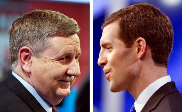 Republican Rick Saccone, left, faces Democrat Connor Lamb in this month's special election in Pennsylvania's 18th Congressional District.