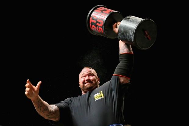 Hafthor Julius Bjornsson of Iceland competes ...