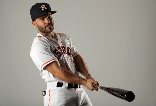 Jose Altuve #27 of the Houston ...
