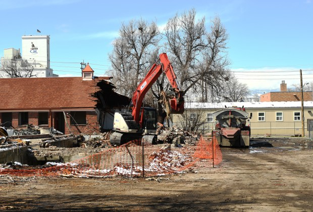 The demolition process was underway for the Colonial Manor Motel, 2615 E. 46th Ave., on March 27, 2018, in Denver. Removal of the motel is required to allow for construction of the Central 70 project. The motel owners and all long-term tenants were compensated and moved to new locations.