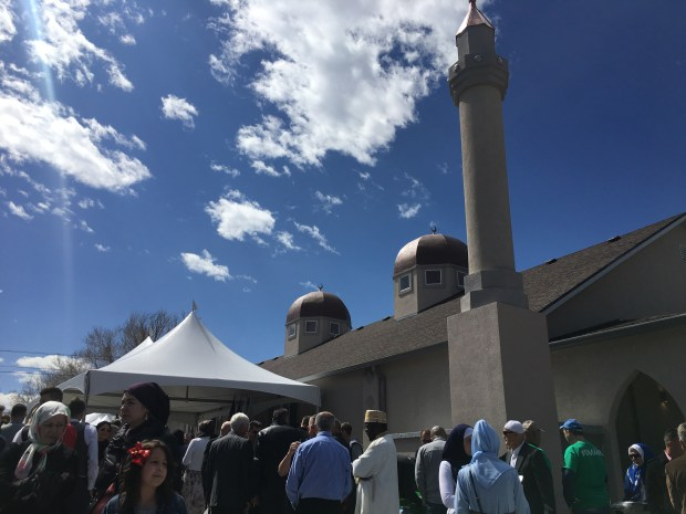 Hundreds gathered at the Mile High Islamic Center's grand opening in Denver.