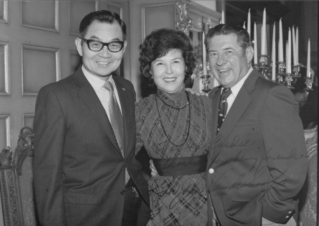 Will Kagohara with wife Cordie and Governor Vanderhoof.