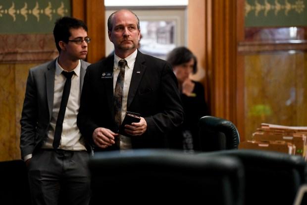 State Representative Steve Lebsock prepares to ...