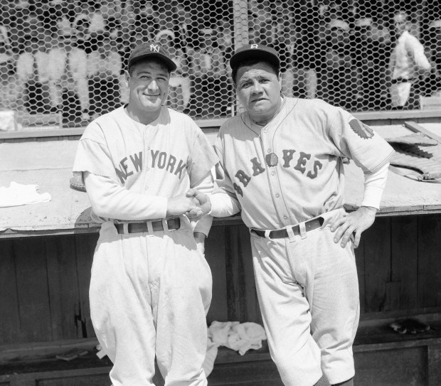 Former New York Yankees teammates Babe ...