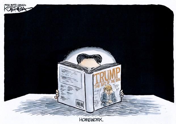 Drawn to the News: Meeting between Donald Trump and Kim Jong Un