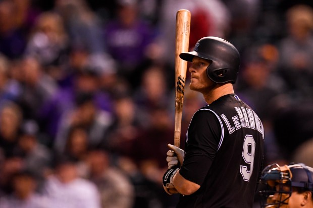 DJ LeMahieu (9) of the Colorado ...