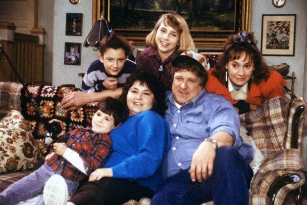 "The original cast of ""Roseanne,"" which returned to TV last week."