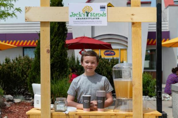 Jack Bonneau of Jack's Stands & Marketplaces will sell his new organic lemonade via Good Times Burgers & Frozen Custard beginning Memorial Day weekend.