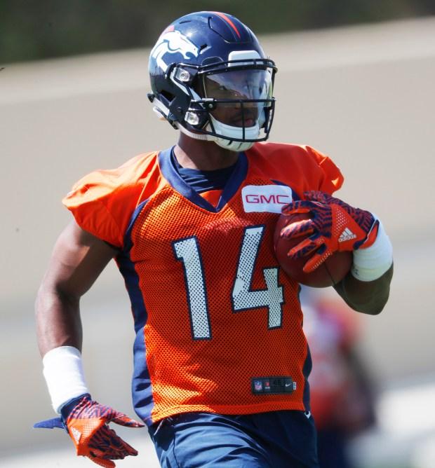 Denver Broncos wide receiver Courtland Sutton ...