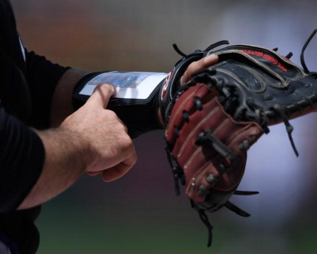 Colorado Rockies catcher Chris Iannetta #22 ...